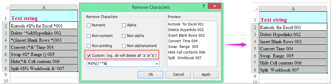 doc remove special characters 7