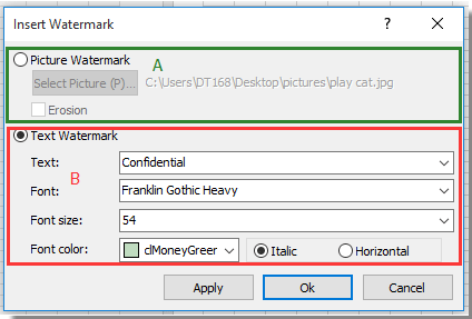 How to quickly remove watermark in Excel?