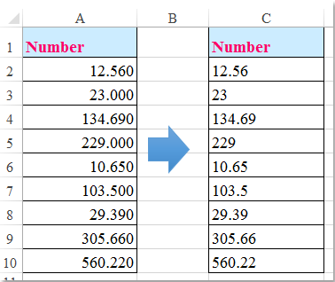 how to remove all zeros after decimal in excel