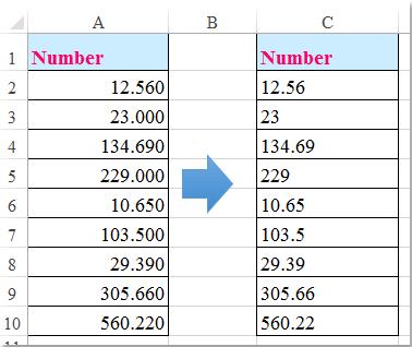 doc remove decimal zeros 1