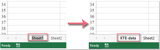 How to rename worksheet without using mouse in Excel?