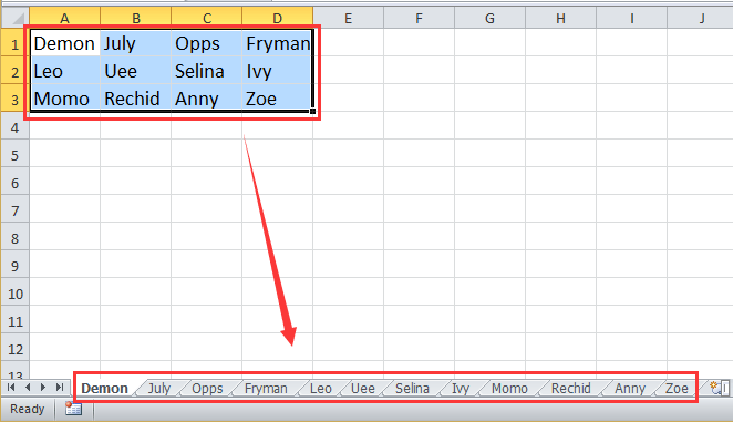 How to rename worksheets based on cell values in Excel?