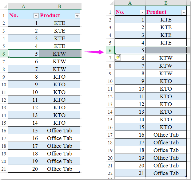doc auto number rows 3