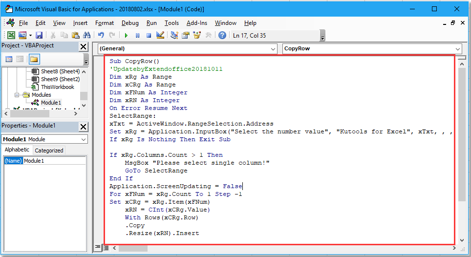 doc repeat rows based on column 2