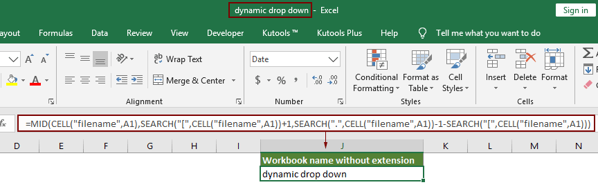 How To Return Filename Without Extension To Cell In Excel