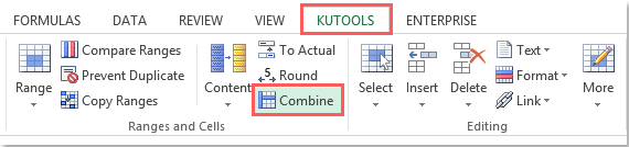 How to reverse the text to column function in Excel?