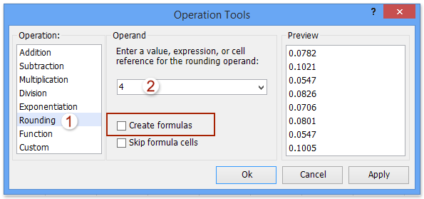How to round percentage values to two decimal places in Excel?
