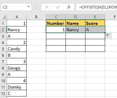 doc rows to columns rows 2