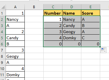 doc rows to columns rows 3