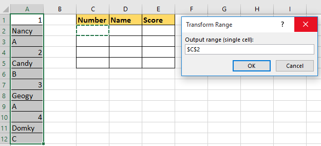 doc rows to columns rows 6