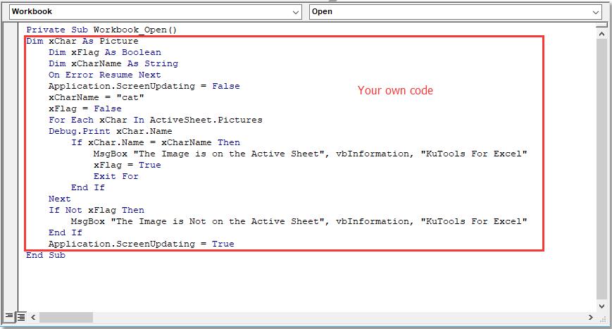 doc run code when open or close 3