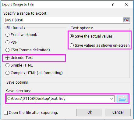 doc save as text file 6