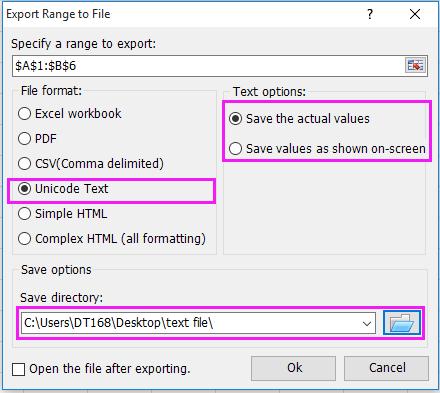 doc enregistrer sous forme de fichier texte 6