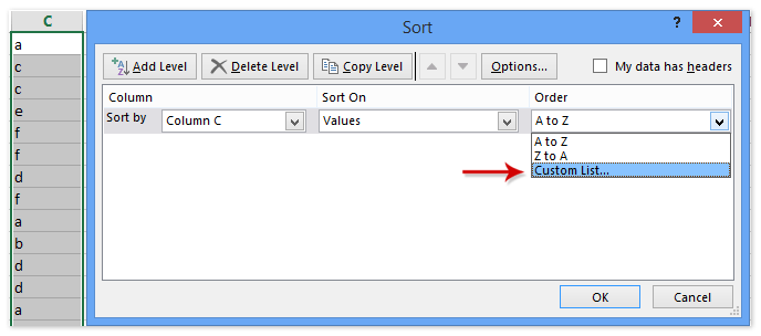 doc save custom sort criteria 5