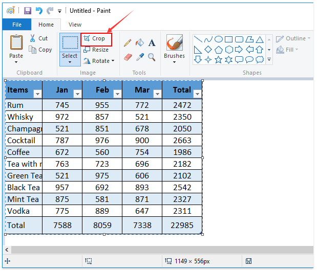 How to save/export table as image?