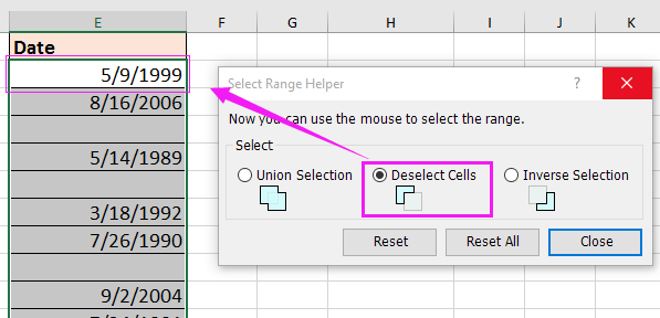 doc select all except header 8