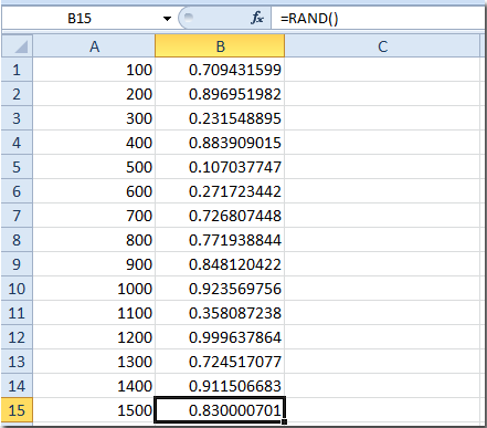 How to select cells randomly in Excel?
