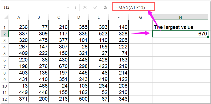 How to select the highest or lowest value in Excel?