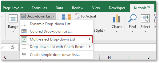 doc kutools multi select drop down list 1
