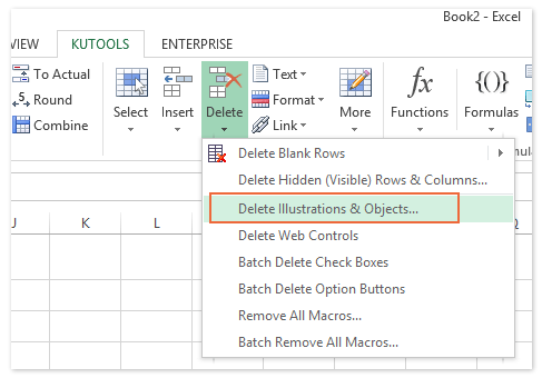 How to select all objects (pictures and charts) easily in Excel?