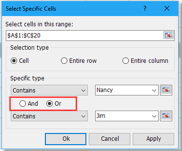 doc select specific text 5