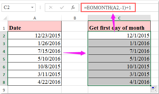 doc get first day of month 2