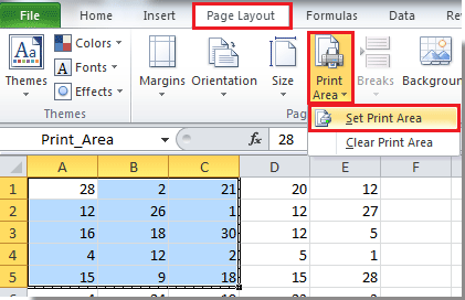 How to set print area to multiple worksheets at once time in ...