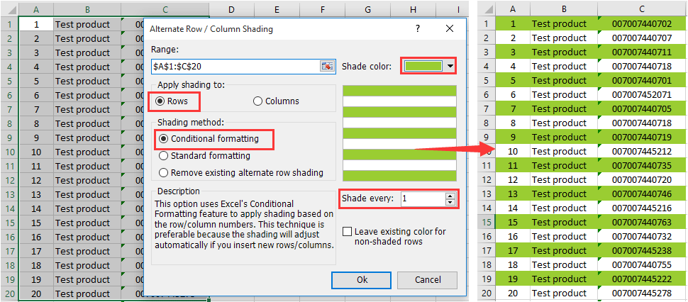 How to add color to every other row in excel 2010