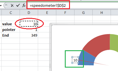 How to create speedometer/gauge chart in Excel?