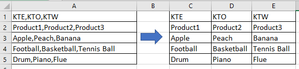 doc split cell to columns 1
