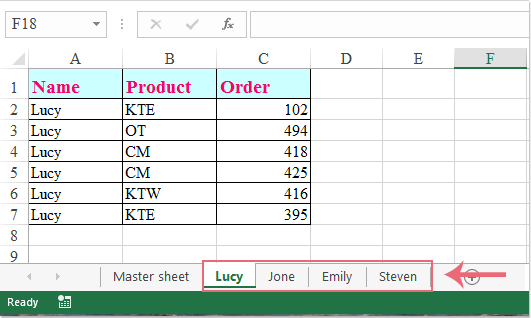 doc split data by columns 2