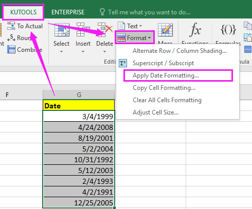 How to quickly split date into separate day, month and year