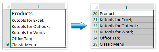 How to split one single row to multiple rows in Excel?