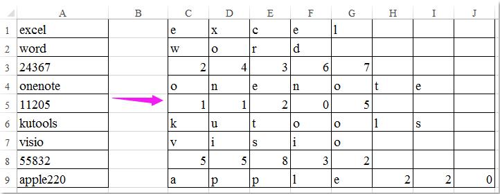 doc将文字拆分为字母7