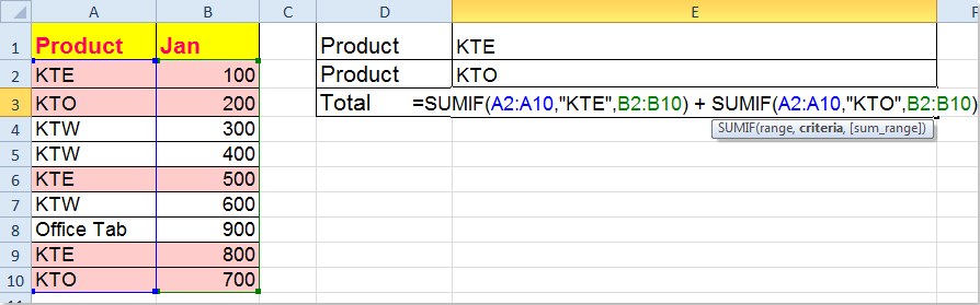 doc-sum-multiple-criteria-one-column-2