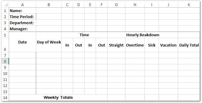 doc template time sheet 1