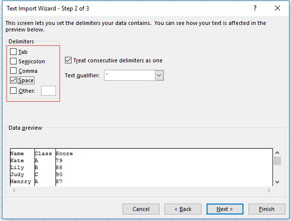 docテキストファイルで区切り文字4でファイルを処理する