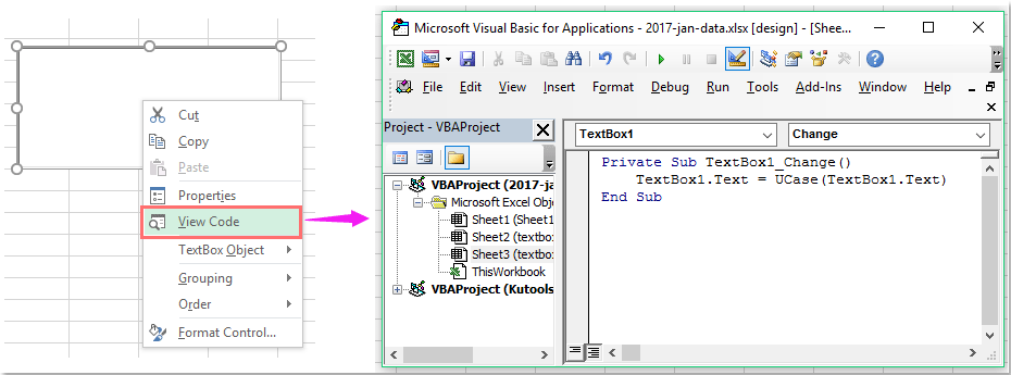 How to force uppercase of text entry in a textbox?