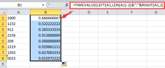 How to convert time string to time in Excel?