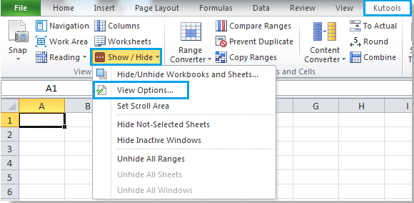 How to display or hide Status bar in Microsoft Excel?