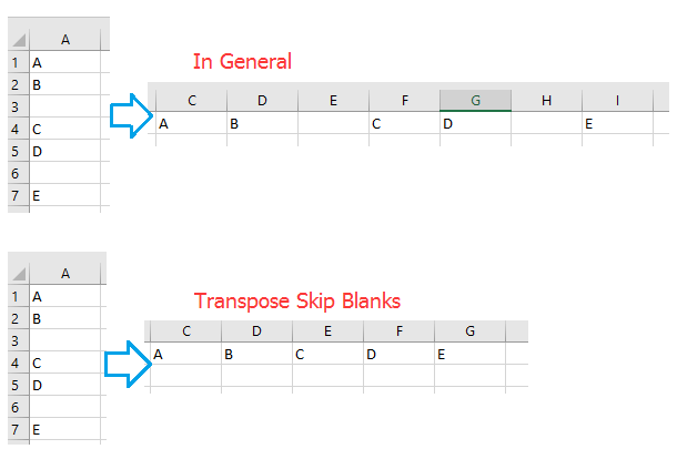 doc transpose skip blanks 1