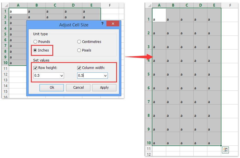 graphic relating to 10x10 Grids Printable identified as How towards make grid paper/sq. template inside of Excel?