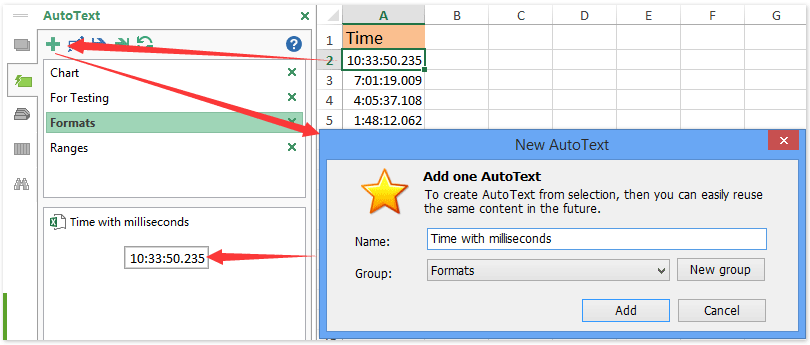 ad auto text format time
