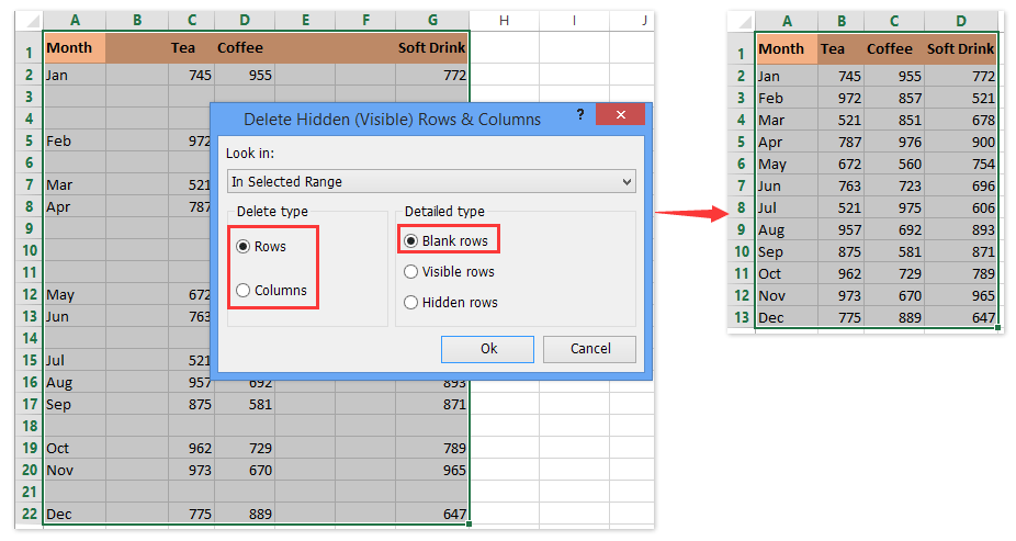 How to quickly hide unused cells, rows, and columns in Excel?