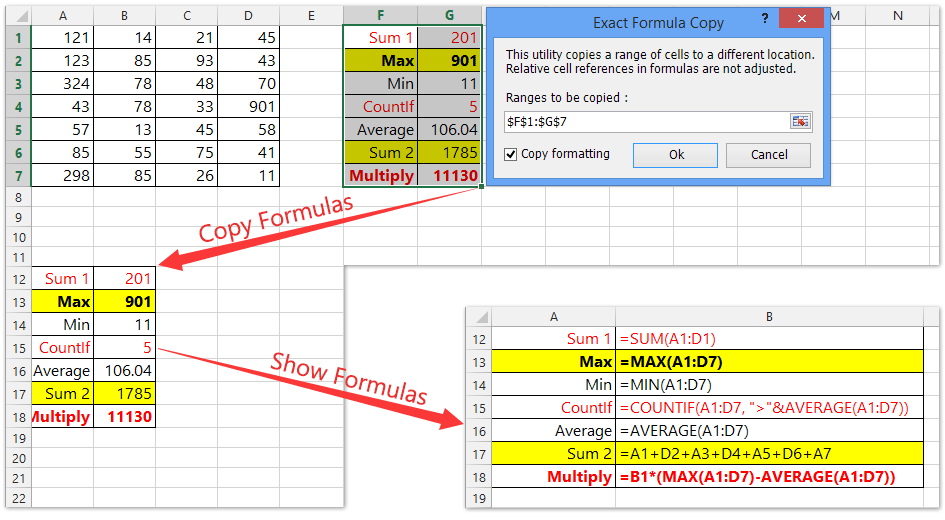How to quickly apply formula to an entire column or row with