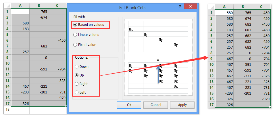 ad fill blank cells 4