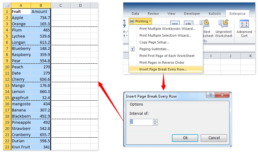 How to hide page breaks in active sheet or all sheets in Excel?