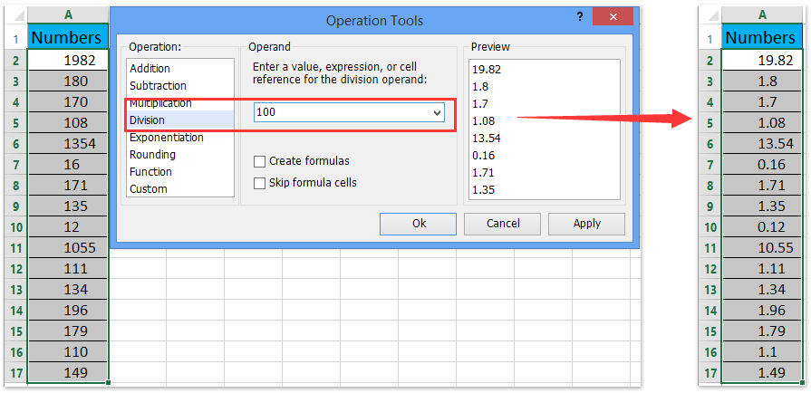 ad operation tools add decimal points