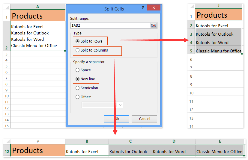 How to wrap text by inserting carriage/hard return in cells