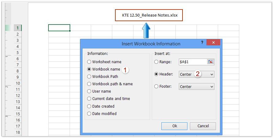 ad insert workbook information filename